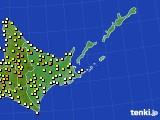 道東のアメダス実況(気温)(2018年05月22日)