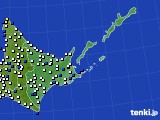 道東のアメダス実況(風向・風速)(2018年05月22日)