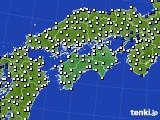 2018年05月30日の四国地方のアメダス(風向・風速)