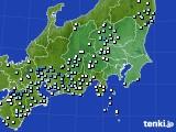 関東・甲信地方のアメダス実況(降水量)(2018年05月31日)