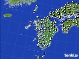 2018年05月31日の九州地方のアメダス(風向・風速)