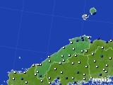 2018年05月31日の島根県のアメダス(風向・風速)