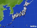 2018年06月01日のアメダス(風向・風速)