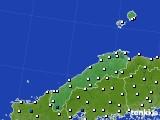 2018年06月01日の島根県のアメダス(風向・風速)