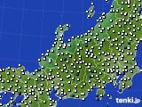 2018年06月03日の北陸地方のアメダス(風向・風速)