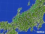 2018年06月04日の北陸地方のアメダス(風向・風速)