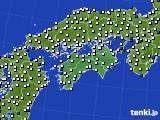 2018年06月04日の四国地方のアメダス(風向・風速)