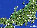 2018年06月05日の北陸地方のアメダス(風向・風速)