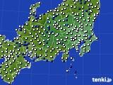 関東・甲信地方のアメダス実況(風向・風速)(2018年06月09日)