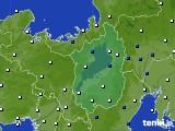 2018年06月09日の滋賀県のアメダス(風向・風速)