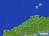 2018年06月09日の島根県のアメダス(風向・風速)