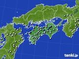 四国地方のアメダス実況(降水量)(2018年06月10日)