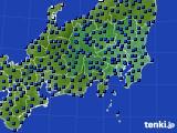 関東・甲信地方のアメダス実況(日照時間)(2018年06月10日)