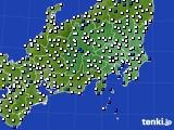 関東・甲信地方のアメダス実況(風向・風速)(2018年06月10日)