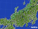 2018年06月10日の北陸地方のアメダス(風向・風速)