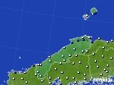 2018年06月10日の島根県のアメダス(風向・風速)