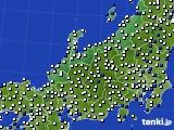 2018年06月11日の北陸地方のアメダス(風向・風速)