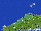 2018年06月11日の島根県のアメダス(風向・風速)