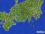 2018年06月12日の東海地方のアメダス(気温)