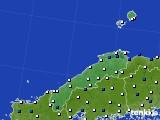 2018年06月12日の島根県のアメダス(風向・風速)