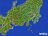 関東・甲信地方のアメダス実況(気温)(2018年06月13日)