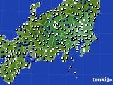 関東・甲信地方のアメダス実況(風向・風速)(2018年06月13日)