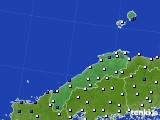 2018年06月13日の島根県のアメダス(風向・風速)