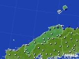 2018年06月14日の島根県のアメダス(風向・風速)