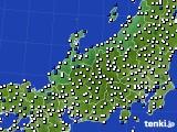 2018年06月15日の北陸地方のアメダス(風向・風速)