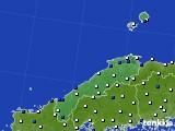2018年06月15日の島根県のアメダス(風向・風速)