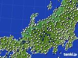 2018年06月17日の北陸地方のアメダス(風向・風速)