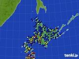 北海道地方のアメダス実況(日照時間)(2018年06月18日)