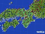 2018年06月18日の近畿地方のアメダス(日照時間)