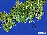 2018年06月18日の東海地方のアメダス(気温)