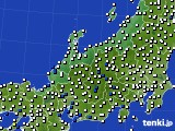 2018年06月19日の北陸地方のアメダス(風向・風速)