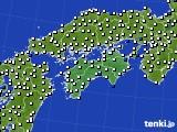 2018年06月19日の四国地方のアメダス(風向・風速)