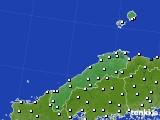 2018年06月19日の島根県のアメダス(風向・風速)