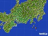 2018年06月20日の東海地方のアメダス(気温)