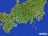 2018年06月21日の東海地方のアメダス(気温)