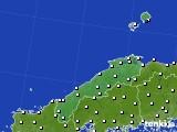 2018年06月21日の島根県のアメダス(風向・風速)