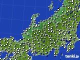 2018年06月22日の北陸地方のアメダス(風向・風速)