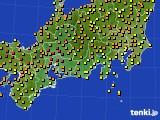 2018年06月24日の東海地方のアメダス(気温)