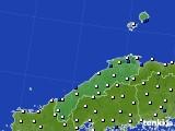 2018年06月24日の島根県のアメダス(風向・風速)