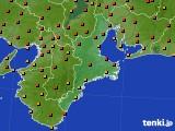 2018年06月25日の三重県のアメダス(気温)