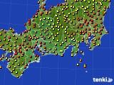 2018年06月27日の東海地方のアメダス(気温)