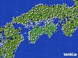 2018年06月27日の四国地方のアメダス(風向・風速)