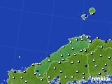 2018年06月27日の島根県のアメダス(風向・風速)