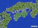 2018年06月28日の四国地方のアメダス(風向・風速)