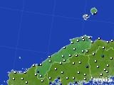 2018年06月28日の島根県のアメダス(風向・風速)