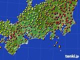 2018年06月29日の東海地方のアメダス(気温)